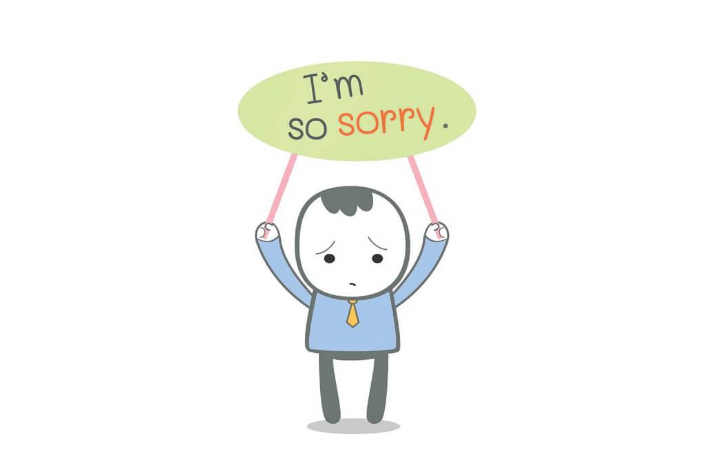 Nhận lỗi bằng tiếng Anh