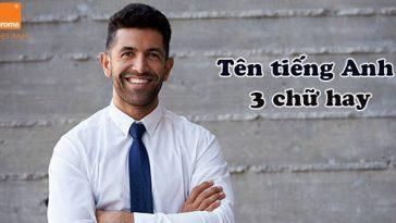 Tong hop ten tieng anh 3 chu hay cho nam
